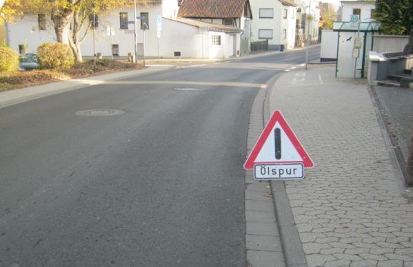 ein selbsterstelltes Verkehrsschild